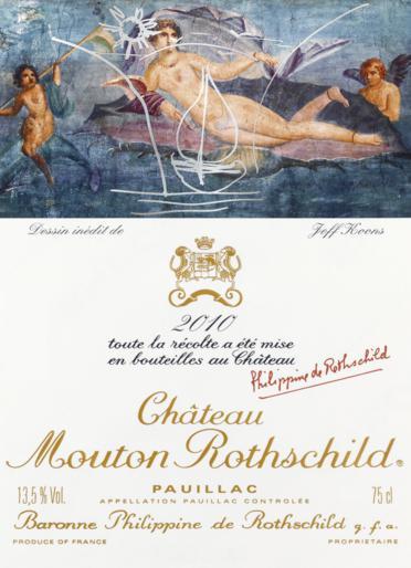 chateau rotschild jeff koons