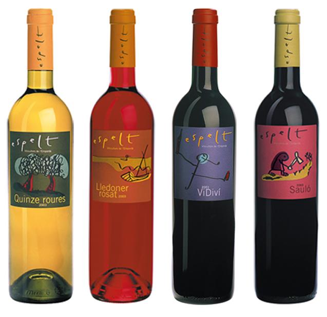 diseño vinos espelt