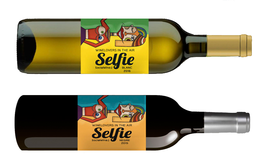 Social wines selfie