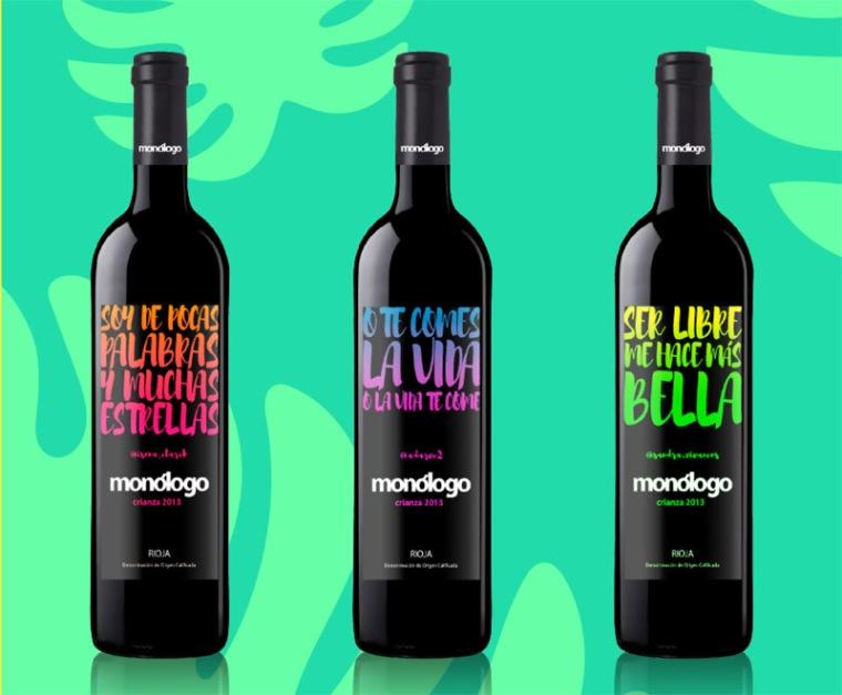 monologo vino etiqueta