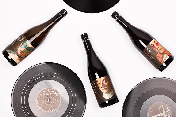 vino diseño etiquetas